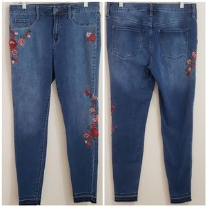 Mossimo Embroidered Hi-Rise Jeggings, Sz 10/30